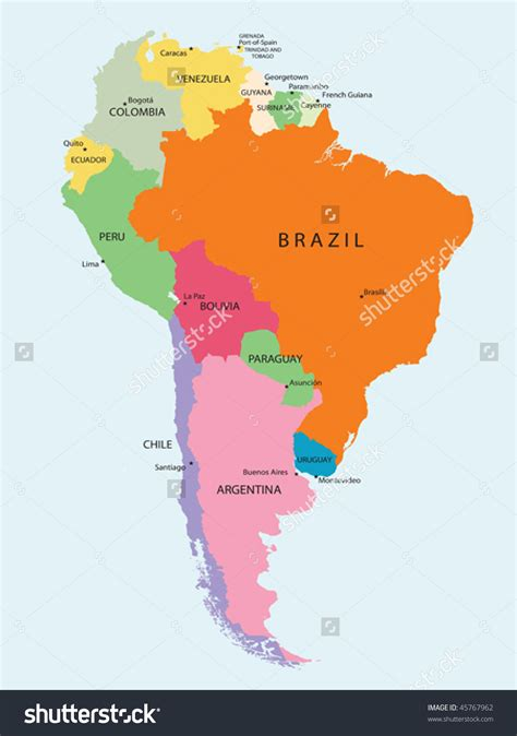 south america map detailed america map clipart 73