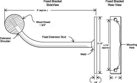 instructions  fixed wall mount ballet bar
