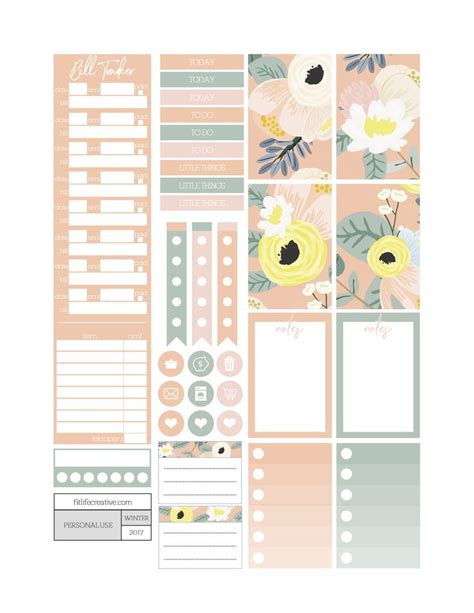 printable weekly stickers 2043 best stickers planner images on pinterest happy