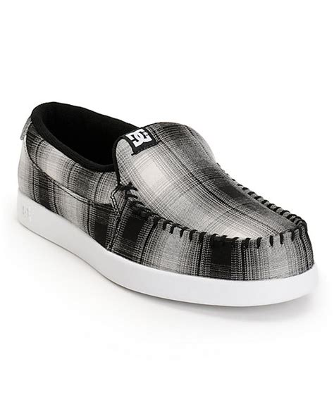 dc villain slippers dc villain tx black white plaid slippers