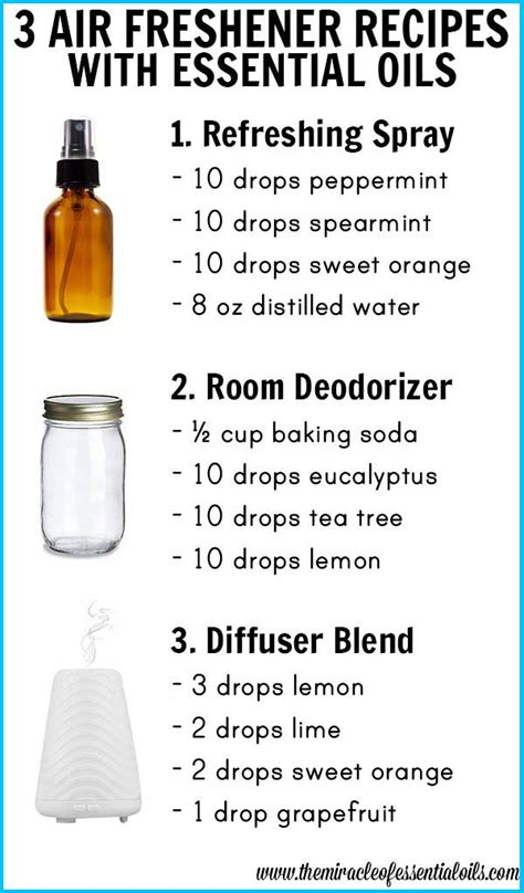 essential room spray recipe 3 diy essential air freshener recipes the miracle of essential oils