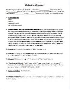 Contract Letter For Catering Catering Contract Template For Ms Word Document Hub