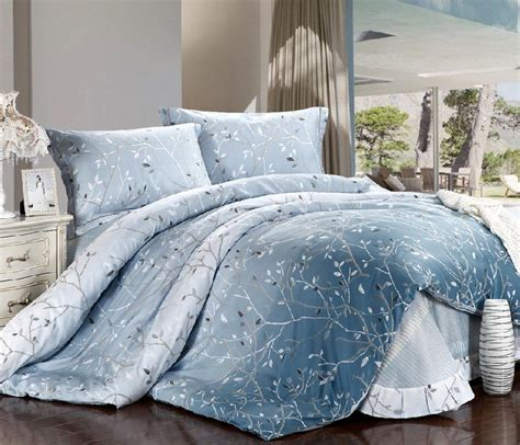 king size blue comforter sets new beautiful 4pc 100 cotton comforter duvet doona cover