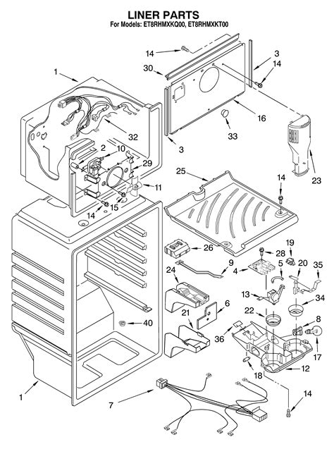 whirlpool maker parts diagram refrigerator parts whirlpool refrigerator parts maker