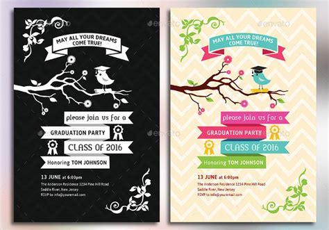 graduation party invitations psd ai vector eps