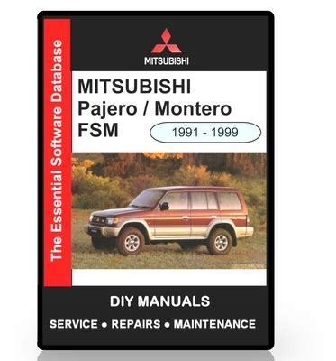 mitsubishi pajero montero workshop manual download manuals mitsubishi pajero montero workshop manual download manuals