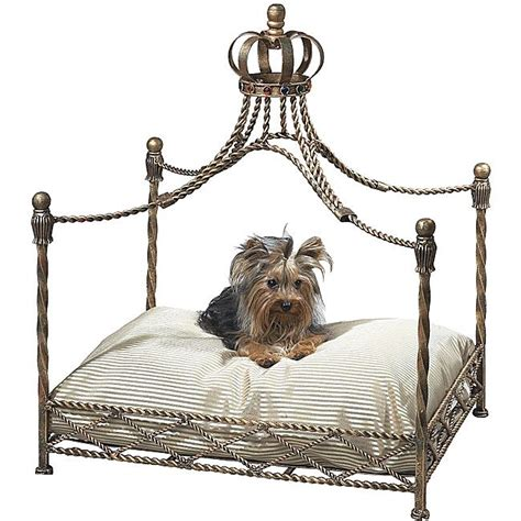 canopy dog bed antique gold iron crown canopy pet bed metals antique