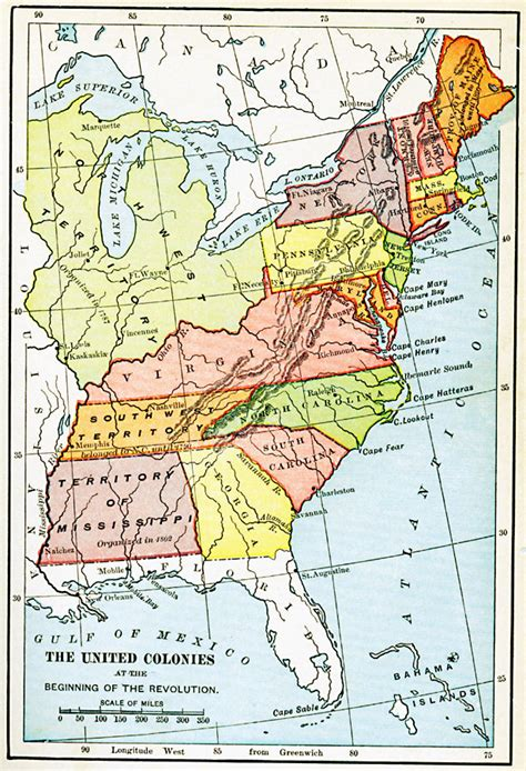 map of usa 1776 the united colonies