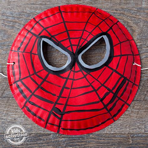 How To Make Mask With Paper Plate - paper plate spider mask