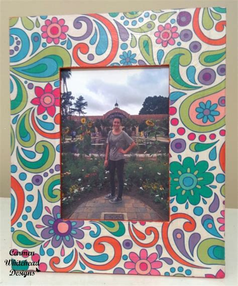 Decoupage Photo Frame - decoupage frame tutorial whitehead designs