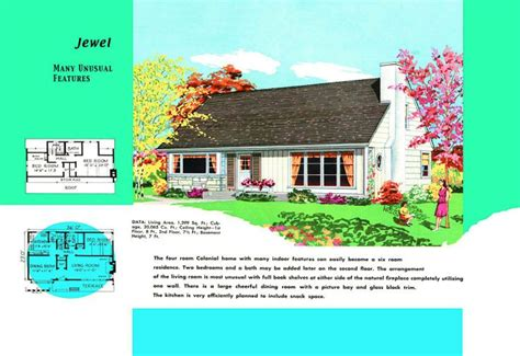 cape cod floor plans 1950 cape cod house plans sold to mid century americans cape
