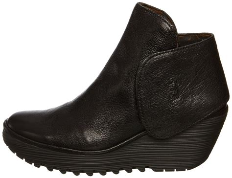 ebay boats london fly london yogi black leather new womens wedge shoes boots