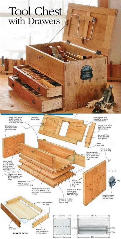 woodworking projects and plans best 10 tool box ideas on