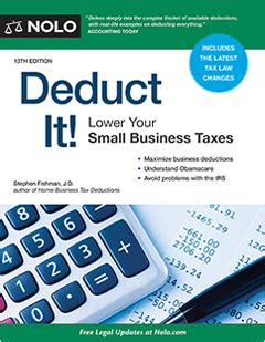 deduct it lower your small business taxes books deduct it lower your small business taxes books