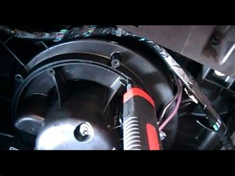 replacing a ac / heater blower fan on a 2008 chevrolet