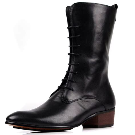 casual mens winter boots fashion 2014 european slim mens boots black mens winter