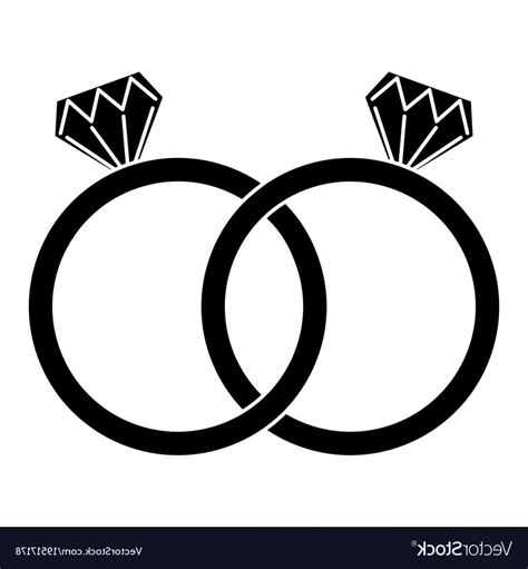 diamond engagement rings icon image vector soidergi