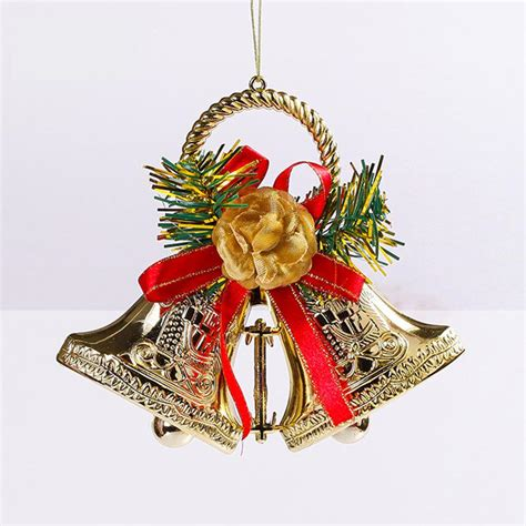 double jingle bells christmas tree ornaments garland