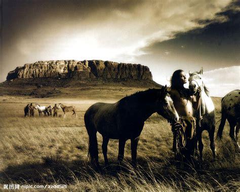 french film cowboy indian horse 草原牧马摄影图 其他 自然景观 摄影图库 昵图网nipic com
