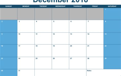 Calendar 2018 Horizontal Numbers 2018 Horizontal Monthly Calendar Template Free