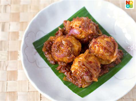 Sambal Tolly sambal fish balls recipe noob cook recipes