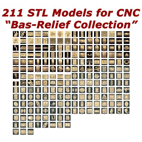 stl models bas relief collection  cnc