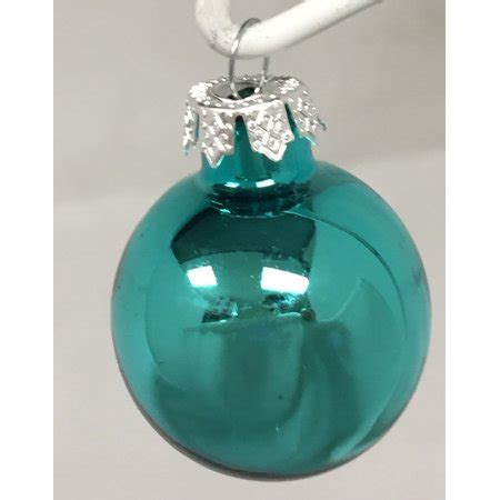 walmart ornaments pack shiny turquoise glass ornament decorations set of 6 2 75 inch new walmart