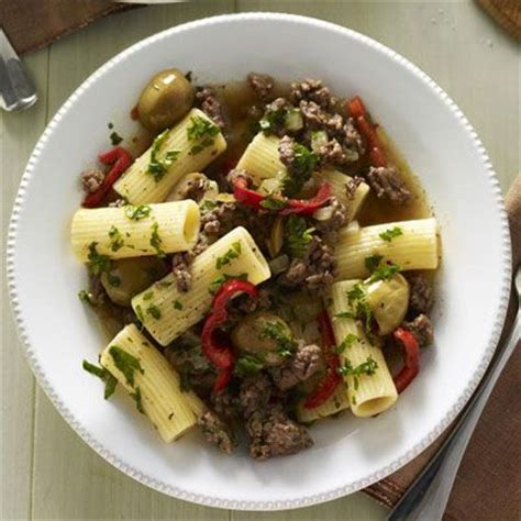rigatoni beef and olives on pinterest