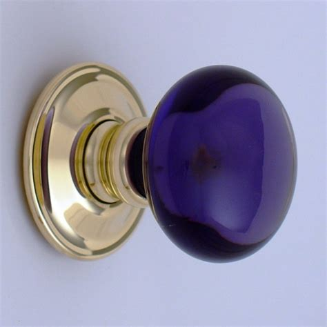 Purple Glass Door Knobs Purple Smooth Glass Door Knob Ironmongery