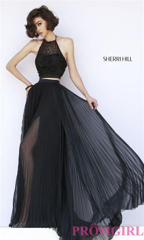 Set 3in1 Longdress Black black two high neck pleated dress promgirl