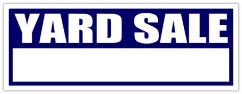 garage sale lawn sell sign yard sale signs