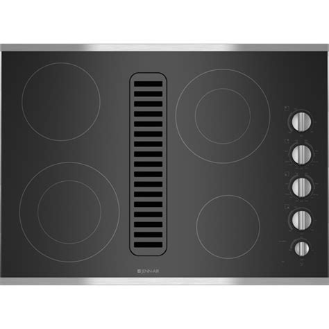 electric cooktop with downdraft jed3430ws electric radiant downdraft 30 quot