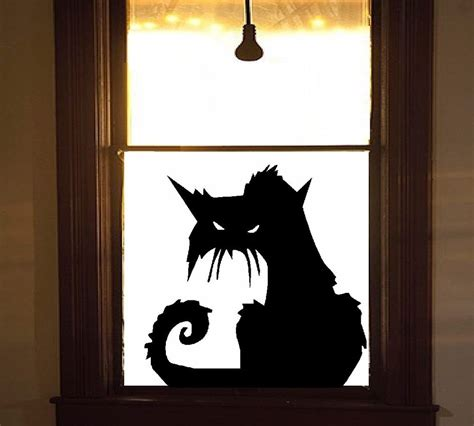 Cat Doors For Windows Decor Scary Cat 2 Wall Or Window Decal Ebay