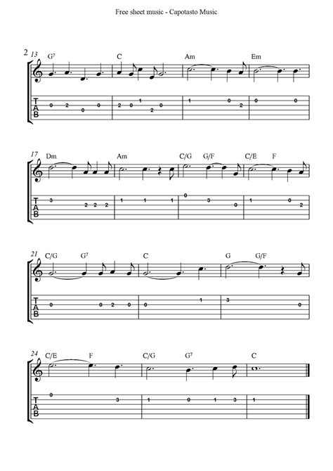 printable sheet music guitar o holy night free easy christmas guitar sheet music and