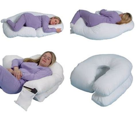 The Snoogle Pillow by Leachco Snoogle Loop Contoured Fit Pillow Ivory