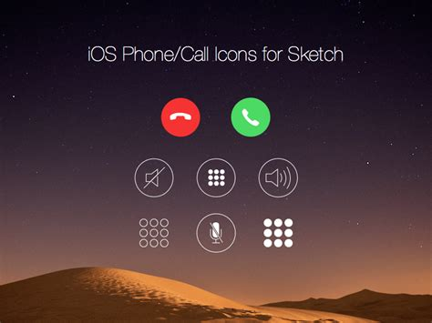 app layout change after phone call ios call screen icons sketch freebie download free