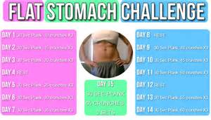 Flat stomach challenge 15 days for a flat belly