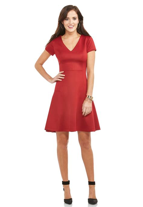 Finding Plus Size With Style And Fit by Seamed Fit And Flare Dress Plus Dresses Cato Fashions