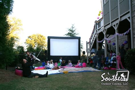 backyard movie party southern outdoor cinema 187 birthday party