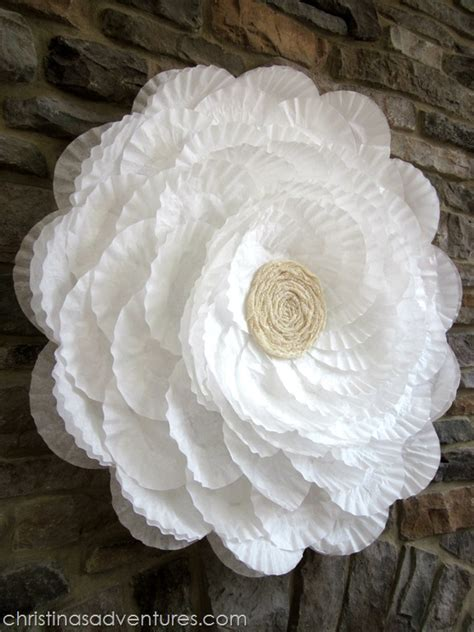 How To Make Paper Flowers From Coffee Filters - m m m 116 diy