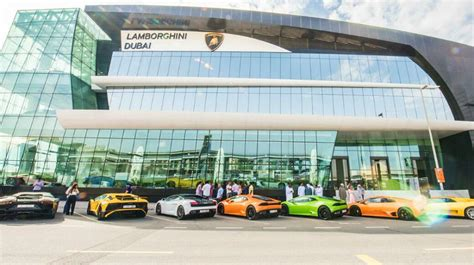 lamborghini showroom building lamborghini dubai is now the world s largest lamborghini