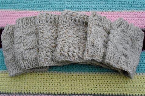 free boot cuff knitting pattern boot cuffs free patterns cobblerscabin s weblog