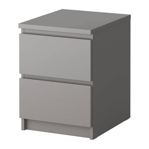 Ikea Bedside Table With Drawers Malm Chest Of 2 Drawers Grey 40x55 Cm Ikea