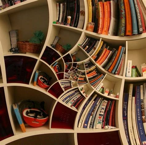 impossible spiral bookcase design home interior design ideas