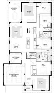 4 Bedroom Floor Plans One Story Australia 4 Bedroom House Plans Home Designs Celebration Homes