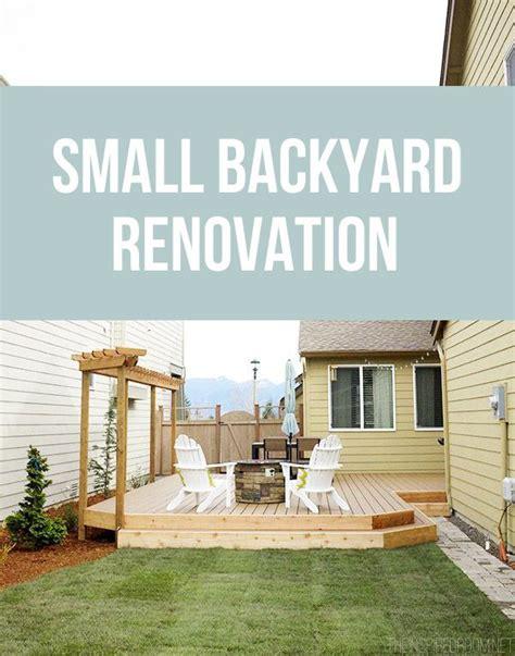 small backyard renovation ideas best 20 small backyard decks ideas on pinterest back patio small yards and garden