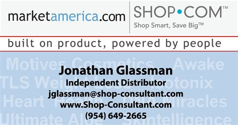 Market America Business Card Template by Market America Business Cards Crest Business Card