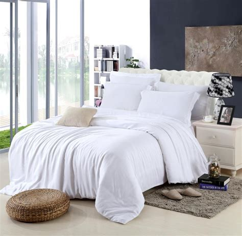 White Bed Set by King Size Luxury White Bedding Set Duvet Cover