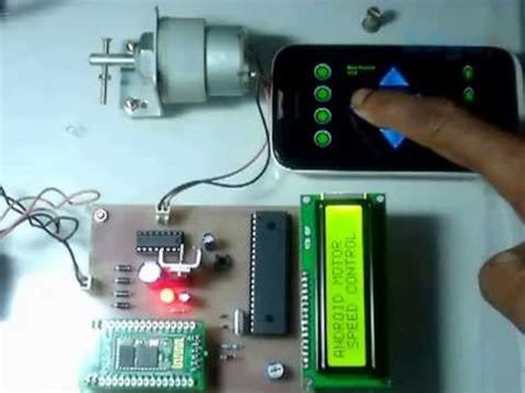 Alarm Remote Motor Hp Android wireless speed of dc motor using microcontrolle