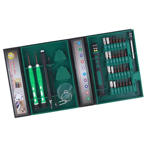 obeng set reparasi elektronik 38 in 1 green